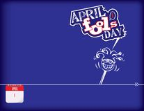 Fools Day Poster Stock Image