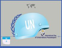Post Card United Nations Peacekeepers Stock Photography