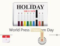 Post Card Press Freedom Day. Calendar holiday of May - Post Card Press Freedom Day Royalty Free Stock Photo