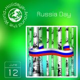 Series calendar. Holidays Around the World. Event of each day of the year. Russia Day. Official Russian holiday. 12 june. Calendar. Holidays Around the World vector illustration
