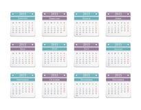 2015 Calendar. 2015 horizontal calendar, vector eps10 illustration Royalty Free Stock Photo