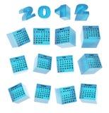 Calendar for ice cubes Stock Photos