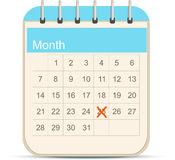 Calendar icon Royalty Free Stock Photo