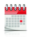 Calendar icon. Vector illustration of detailed beautiful calendar icon Royalty Free Stock Image
