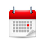 Calendar icon Royalty Free Stock Photography