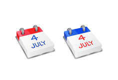 Calendar Icon on 4th July Stock Photography