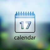 Calendar icon.  on background blurred Stock Image