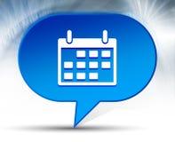 Calendar icon blue bubble background royalty free stock image