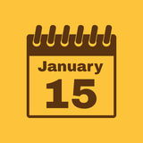 The calendar icon. Calendar symbol. Flat Vector illustration Stock Photography