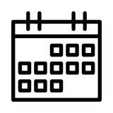 Calendar icon. Calendar thin line  icon Royalty Free Stock Image