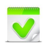 Calendar Icon with Check Mark Symbol Royalty Free Stock Photo