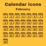 The calendar icon. February symbol. Flat Stock Photography