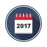 2017 Calendar. Icon, flat design Stock Image