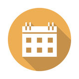 Calendar icon. Calendar  Glyphs Shadow Icon Stock Images