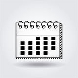 Calendar icon image Royalty Free Stock Images