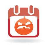 Calendar icon with  jack o' lantern Stock Photo