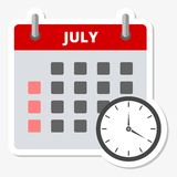 Calendar icon July, Meeting Deadlines icon.  Stock Images