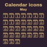 The calendar icon. May symbol. Flat. The calendar icon.  May symbol. Flat Vector illustration. Set Vector Illustration