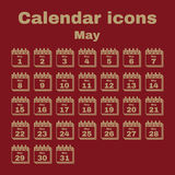 The calendar icon. May symbol. Flat Stock Images