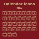 The calendar icon. May symbol. Flat. The calendar icon.  May symbol. Flat Vector illustration. Set Royalty Free Illustration