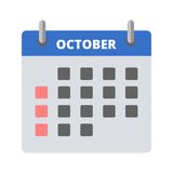 Calendar icon October. Icon Stock Photo