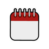 Calendar icon. Planner concept. Vector graphic Stock Images