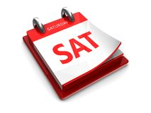Calendar icon of saturday Royalty Free Stock Photo