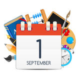 Calendar Icon of 1 September. Vector Illustration Stock Photography