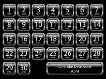 Calendar Icon Set - April Stock Image
