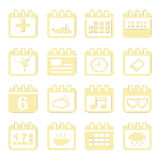 Calendar icon set Stock Images