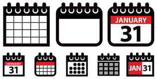 Calendar Icon Set Royalty Free Stock Image