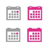 Calendar icon. Set of calendar icons, web icons Royalty Free Stock Photo