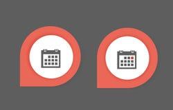 Calendar icon. Set of calendar icons, web icons Royalty Free Stock Photos