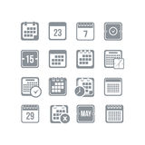 Calendar icon set Stock Photography