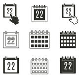 Calendar icon set. Calendar vector icons set. Black illustration isolated on white background for graphic and web design vector illustration