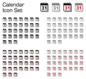 Calendar icon set Royalty Free Stock Photo
