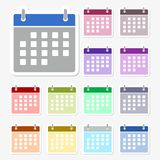 Calendar icon. Simple  icon set Stock Images