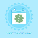 Calendar icon. St. Patricks day. Vector illustration. Royalty Free Stock Photography