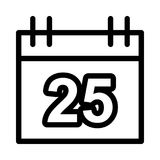 CALENDAR icon. CALENDAR THIN LINE VECTOR ICON Royalty Free Stock Images