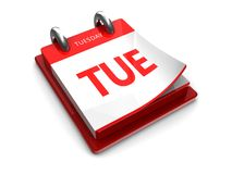 Calendar icon of tuesday Royalty Free Stock Photography
