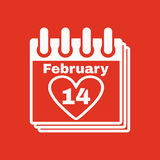 The calendar icon. Valentines day symbol. Stock Image