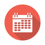 Calendar icon. Calendar vector Glyphs Shadow Icon Royalty Free Stock Photography