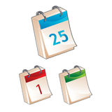 Calendar icon - vector illustration. Set of calendar icons - vector illustration Stock Photo
