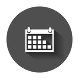 Calendar icon on vector illustration. Stock Images