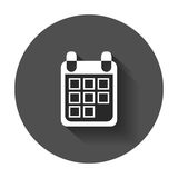 Calendar icon on vector illustration. Royalty Free Stock Photography