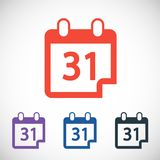Calendar icon, vector illustration. Flat design Stock Photos