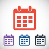 Calendar icon, vector illustration. Flat design Royalty Free Stock Images