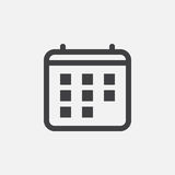 Calendar icon, vector logo illustration, pictogram isolated on white. Royalty Free Stock Photos