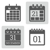 Calendar Icon vector set. Stock Images