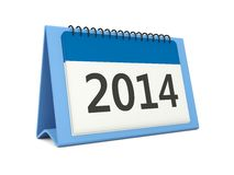 2014 calendar icon. On white background Stock Photography